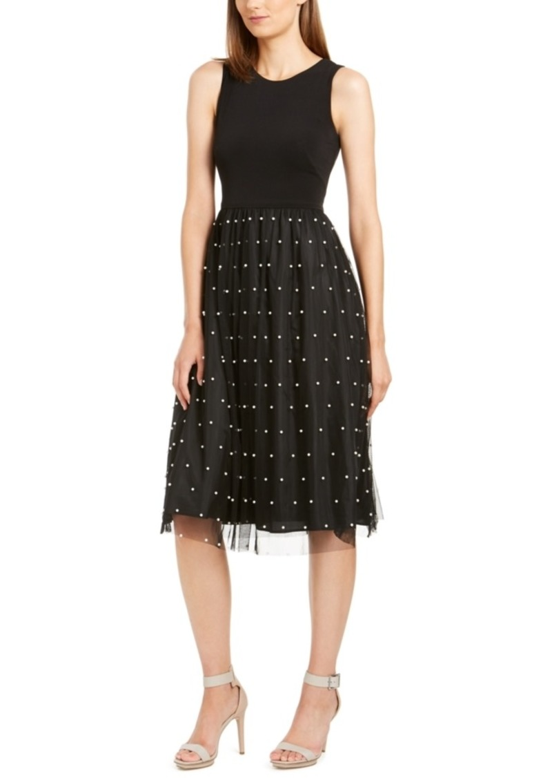 Calvin Klein Faux-Pearl Detail Dress