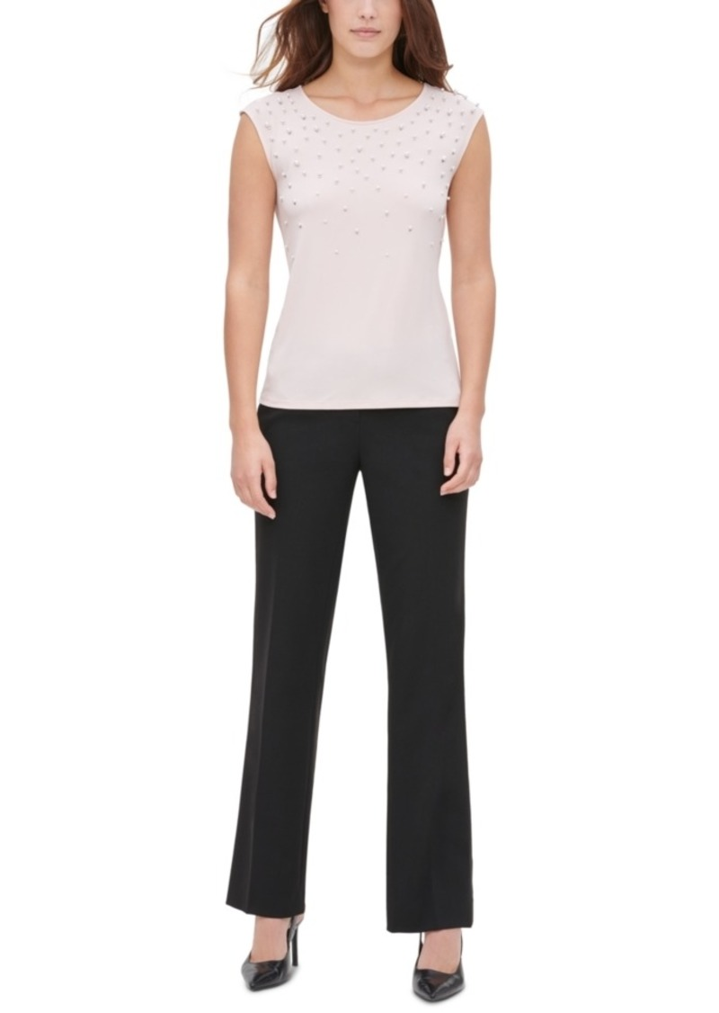 Calvin Klein Faux-Pearl Embellished Top