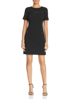 Calvin Klein Faux-Pocket Shift Dress