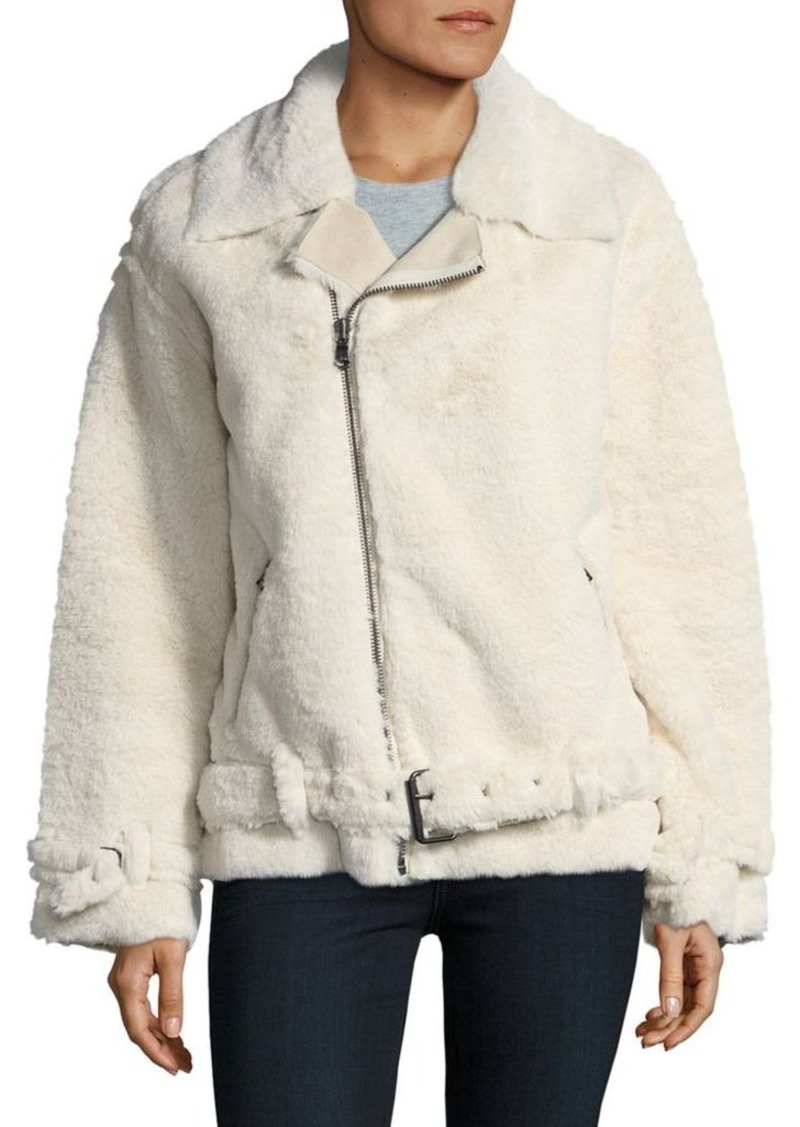 73235696712c Calvin Klein Calvin Klein Jeans Faux Shearling Fur Moto Jacket ...