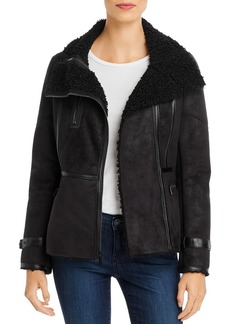Calvin Klein Faux-Shearling Moto Jacket