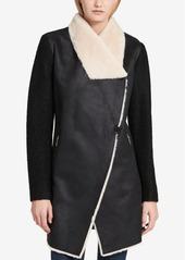 Calvin Klein Faux-Shearling Walker Coat