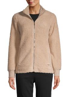 Calvin Klein Faux Shearling Zip Jacket