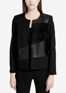 Calvin Klein Faux-Suede Blazer
