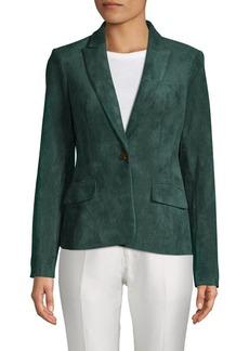 Calvin Klein Faux Suede Button Jacket