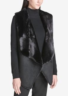 Calvin Klein Faux-Suede Faux-Fur Vest
