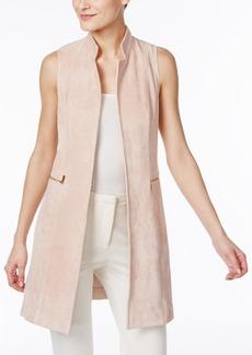 Calvin Klein Faux-Suede Open-Front Vest