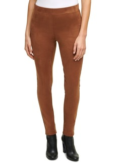 Calvin Klein Faux-Suede Pull-On Pants