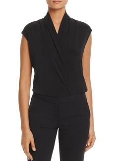 Calvin Klein Faux-Wrap Bodysuit