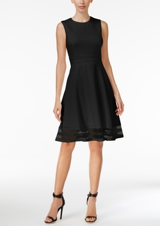 Calvin Klein Fit & Flare Illusion Hem Dress