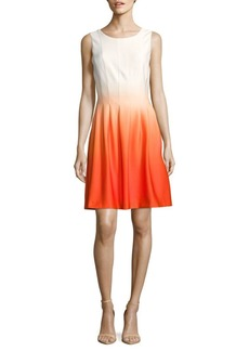 Calvin Klein Fit-&-Flare Ombre Dress