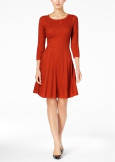 Calvin Klein Fit & Flare Sweater Dress