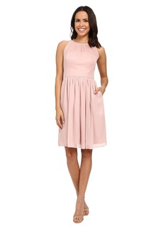 Calvin Klein Fit and Flare Chiffon Dress CD6B1V7C