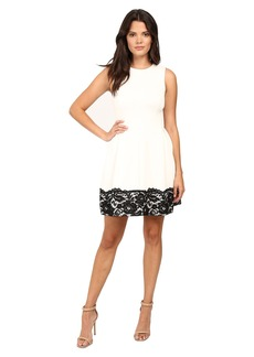 Calvin Klein Fit and Flare Dress with Lace at Hem CD6M1284