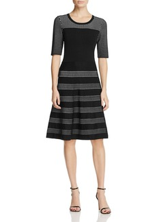 Calvin Klein Fit-and-Flare Sweater Dress