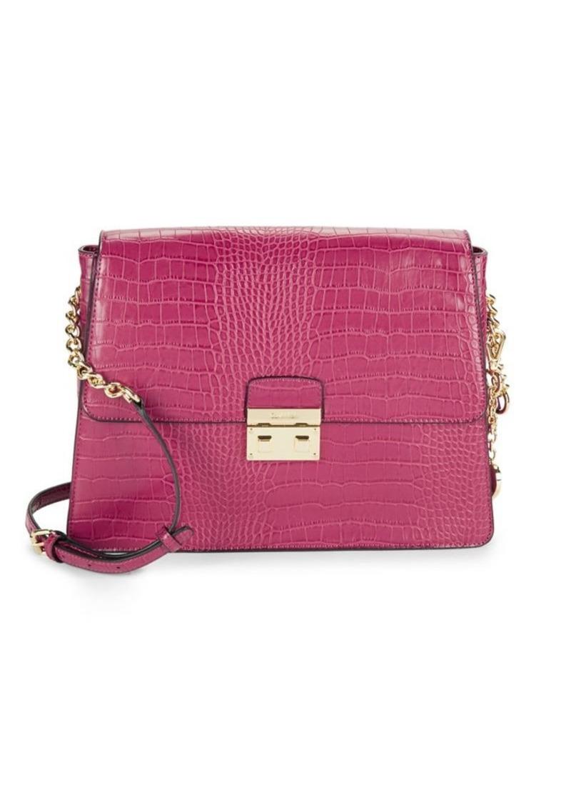 Calvin Klein Calvin Klein Flap Leather Crossbody Bag