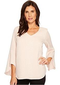 Calvin Klein Flare Sleeve V-Neck Blouse