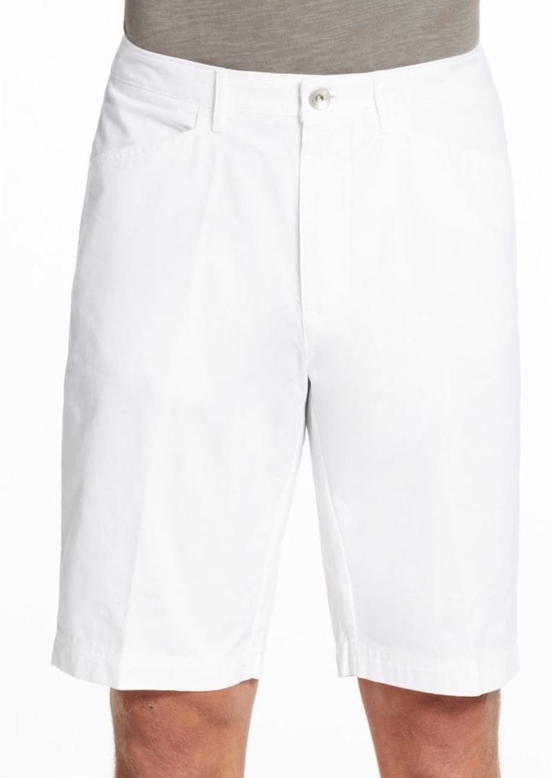 Calvin Klein Flat-Front Cotton Shorts