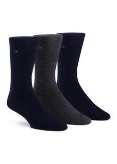 Calvin Klein Flat Knit Crew Socks, Pack of 3