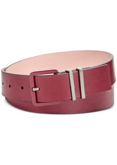 Calvin Klein Flat Strap Double Keeper Harness Belt