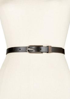 Calvin Klein Flat Strap Wood Inlay Skinny Belt