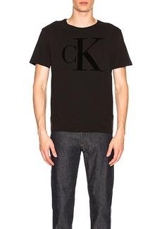 Calvin Klein Flocked Logo Crew Tee