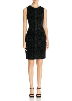 Calvin Klein Flocked Scuba Sheath Dress