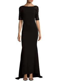 Calvin Klein Floor-Length Hi-Lo Dress