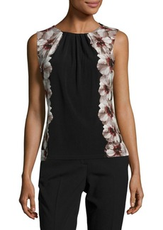 Calvin Klein Floral-Accented Shell