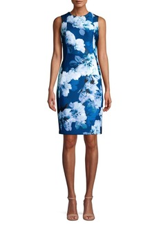 Calvin Klein Floral Art Sheath Dress
