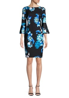 Calvin Klein Floral Bell Sleeve Dress
