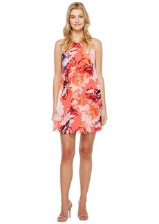 Calvin Klein Floral Chiffon Trapiz Dress