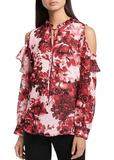 Calvin Klein Floral Cold-Shoulder Top