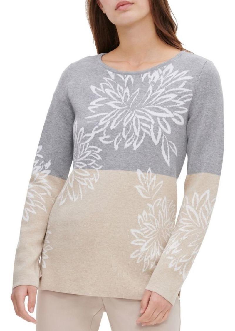 Calvin Klein Floral Colorblock Sweater