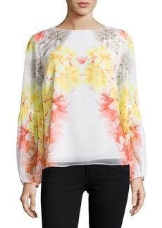 Calvin Klein Floral Crepe Top