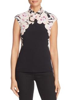 Calvin Klein Floral Crossover Neck Top