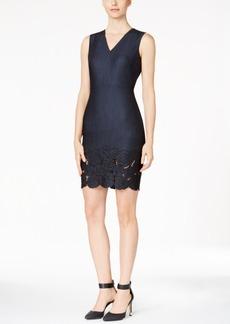 Calvin Klein Floral-Cutout Sheath Dress