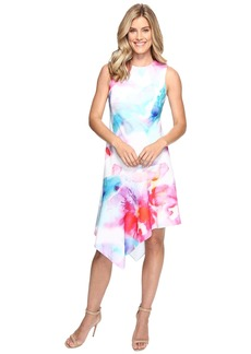 Calvin Klein Floral Dress with Asymmetrical Hem CD7C201K