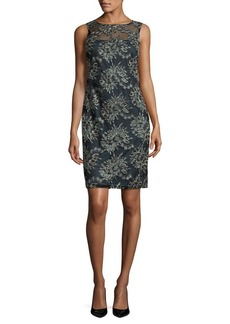 Calvin Klein Floral Embroidered Dress