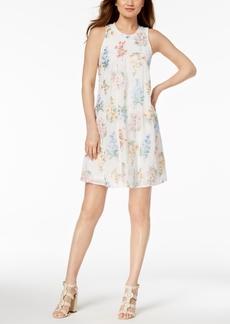 Calvin Klein Floral-Embroidered Shift Dress, Regular & Petite