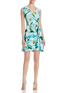 Calvin Klein Floral Faux Wrap Dress