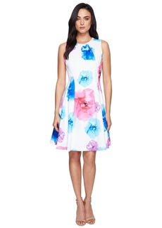 Calvin Klein Floral Fit & Flare Dress CD7M5V3Q
