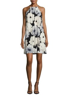 CALVIN KLEIN Floral Halter Dress