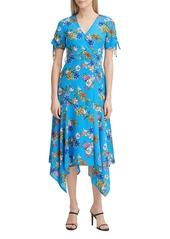Calvin Klein Floral Handkerchief-Hem Dress