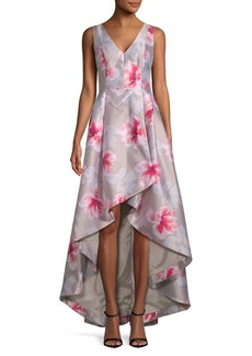 Calvin Klein Floral Hi-Lo Gown
