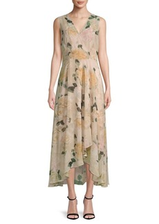 Floral Hi-Lo Sleeveless Dress