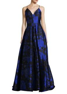 Calvin Klein Floral Jacquard Ball Gown