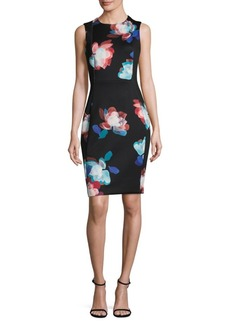 Calvin Klein Floral Knee-Length Dress