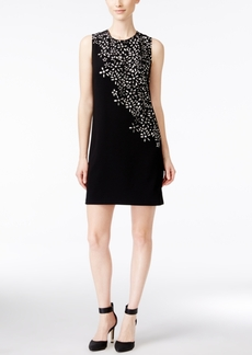 Calvin Klein Floral Laser-Cutout Sheath Dress