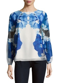 Calvin Klein Floral Long-Sleeve Blouse